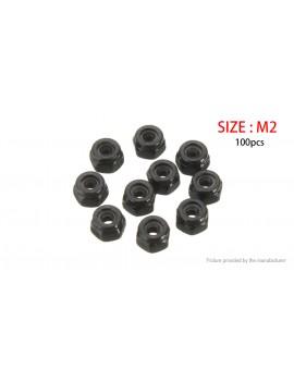 Carbon Steel Self Locking Hex Nut Nylon Insert Lock Nut (100-Pack)