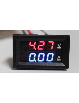 """0.28"""" 3-Digit LED Voltmeter Amperemeter Module"""