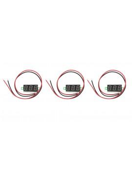 "0.28"" 3-Digit LED Voltmeter Module (3-Pack)"