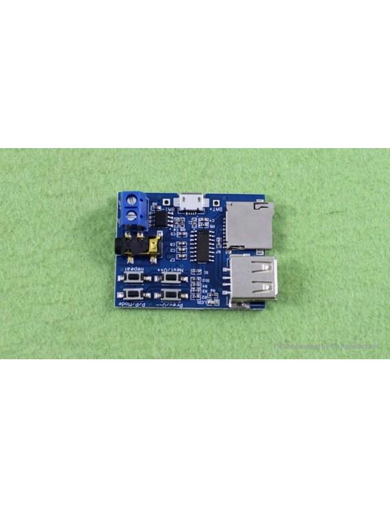 MicroSD Card U-disk MP3 Format Decoder Board Amplifier Decoding Audio Player Module